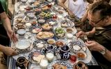 opulentes Frühstück in Samarkand